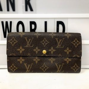 Louis Vuitton Sarah Bifold Monogram Long Wallet